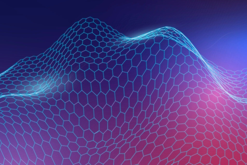 Blue 3D abstract wave pattern background vector