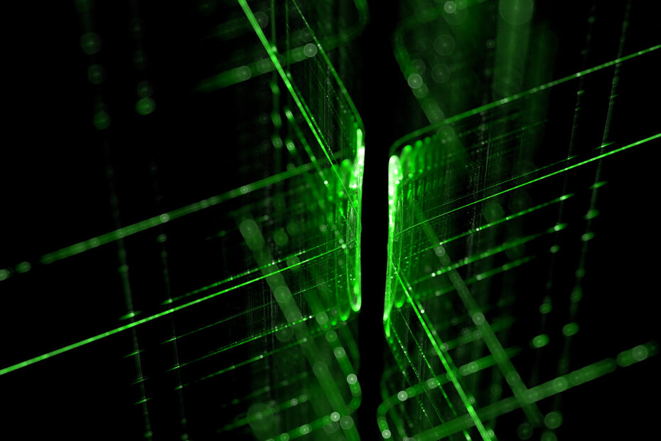 green technology lines background