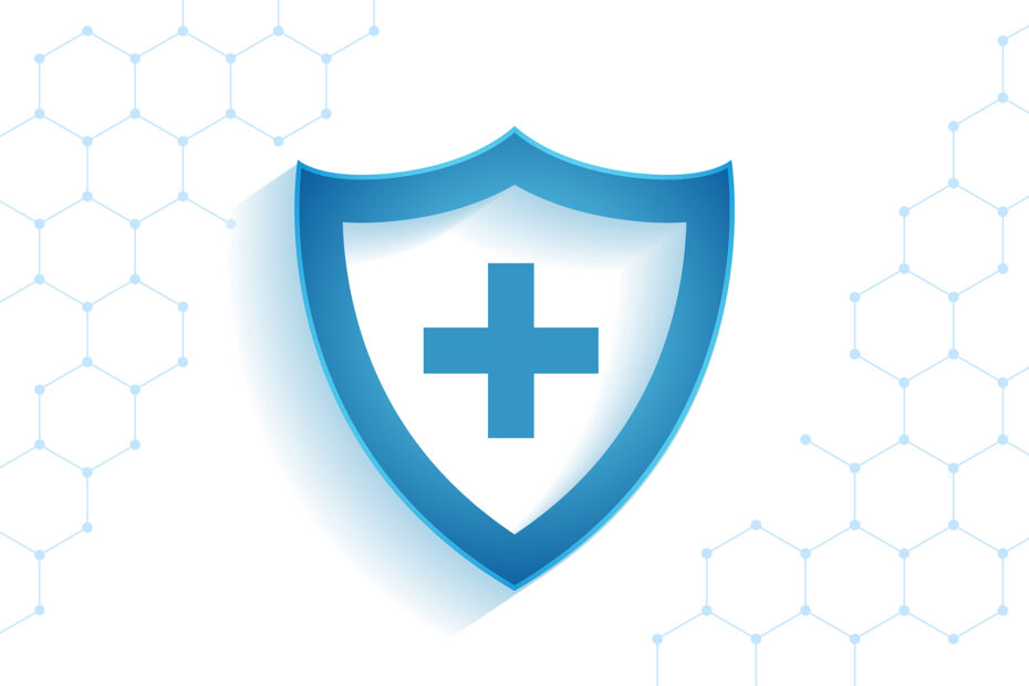 healthcare medical shield for virus protection background